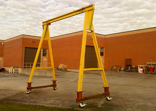 Overhead Crane Training Requirements Ontario : Case study gantry modification rogers material handling